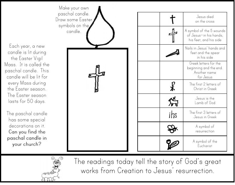 Paschal Candle Paper Make A List Of Other Symbols Of Christ You