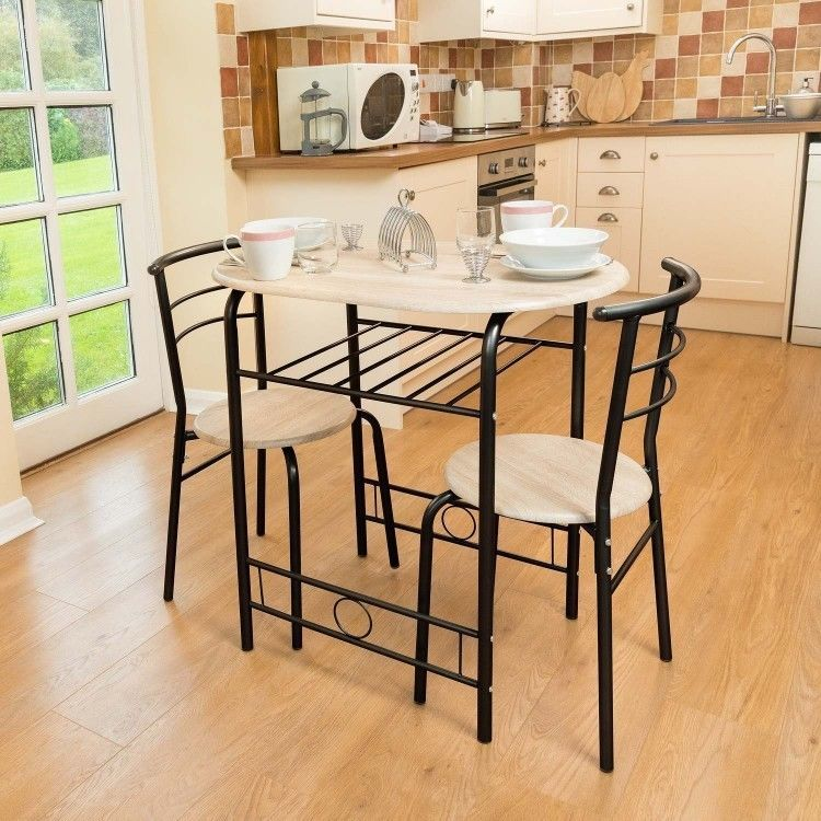 Dining Set Breakfast Bar Kitchen Table And Chairs Three Pieces Free Uk Shipping Small Kitchen Tables Kitchen Bar Table Kitchen Table Chairs