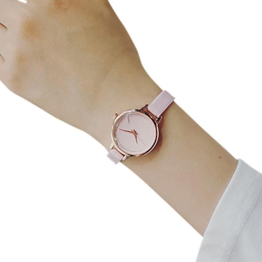 2690da57d46 Mulheres de Pulso de Quartzo Analógico Mostrador Pequeno Delicado Relógio  de Negócios de Luxo Relógios Senhoras