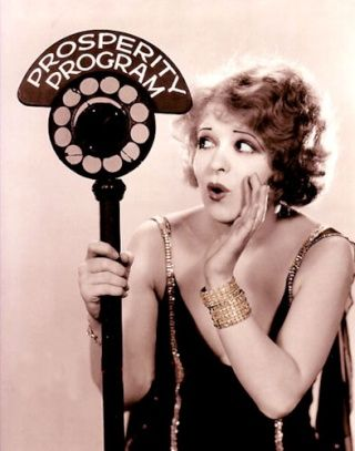 early radio, Clara Bow  Curious??? Do you think she dressed that way everyday? Or was she dressed up to do radio?