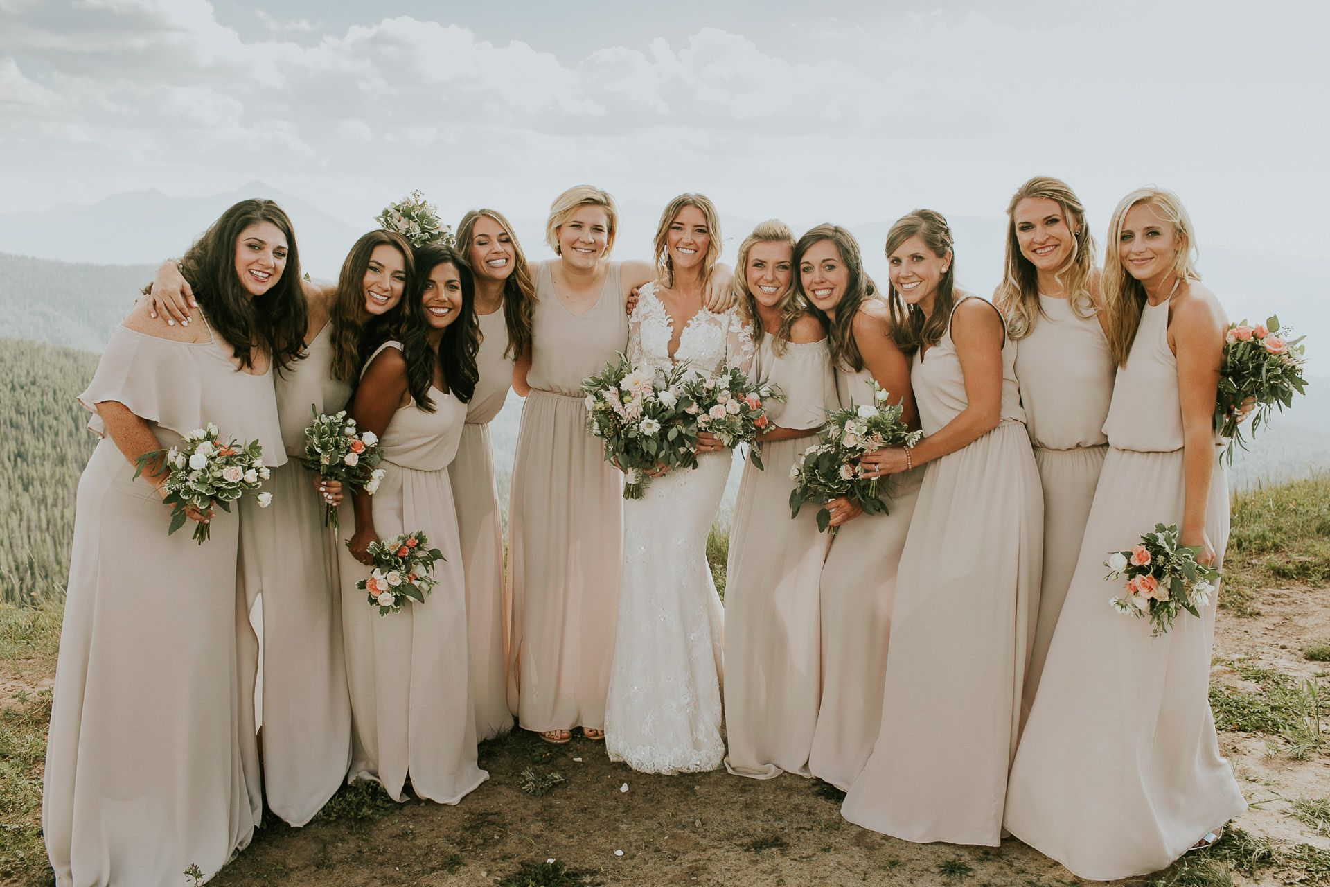 Affordable wedding dress designers list  Organic bohemian Sonnenalp Hotel wedding in Vail Colorado Ines di