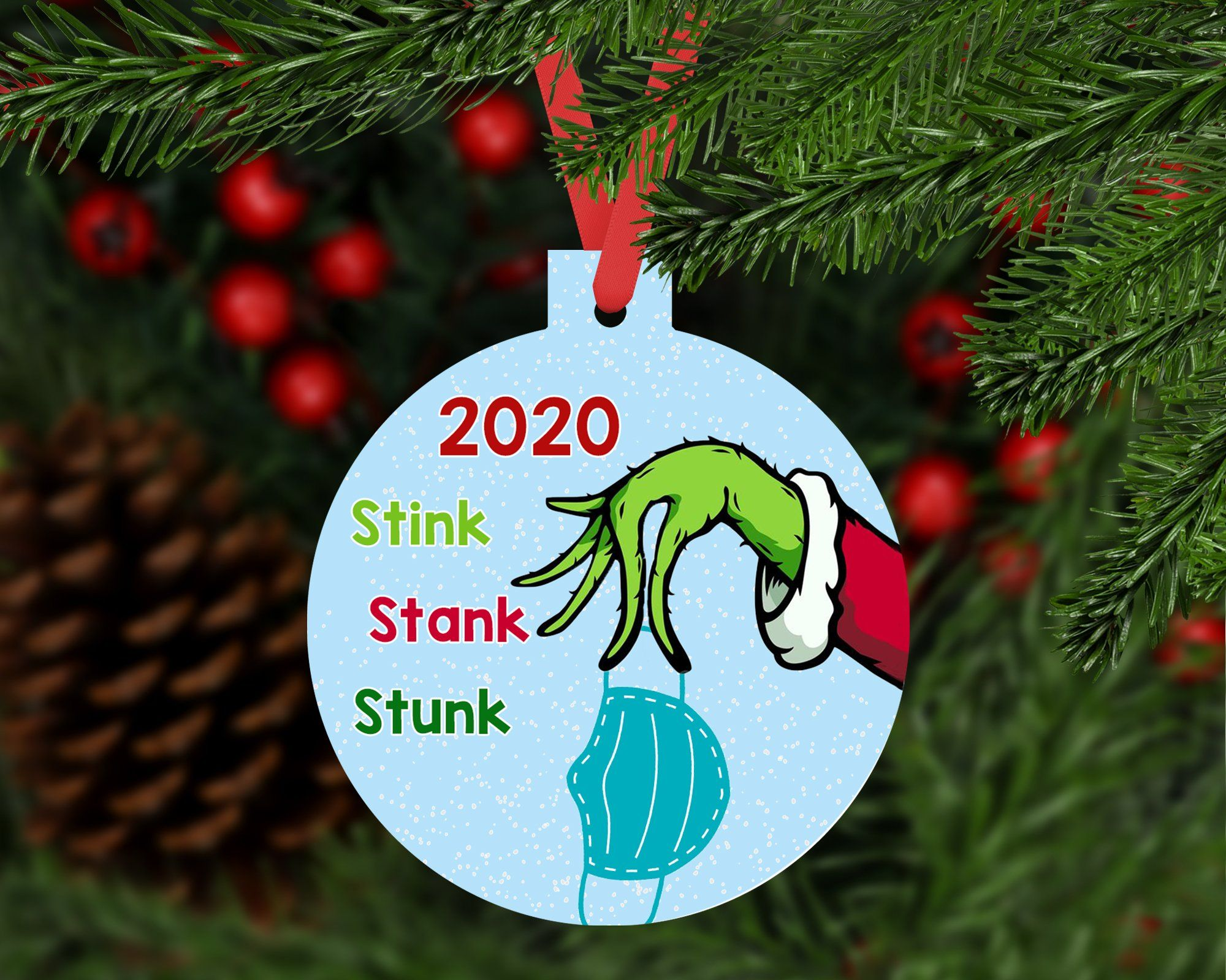 Grinch 2020 Ornament Round Design Diy Christmas Cards Diy Xmas Gifts Christmas Ornaments