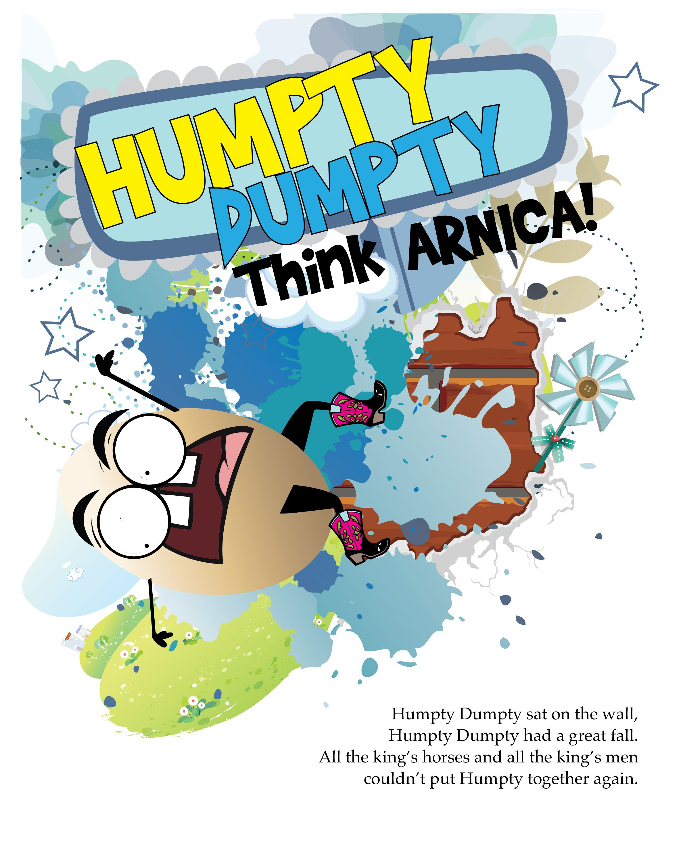 Humpty Dumpty Illustration Created For The Book Rhymes For Remedies