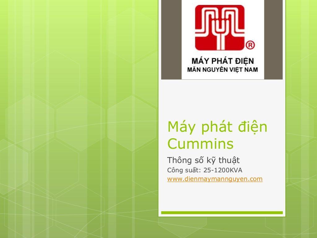 kskt-mayphatdiencummins by Máy phát điện Mẫn Nguyên via Slideshare