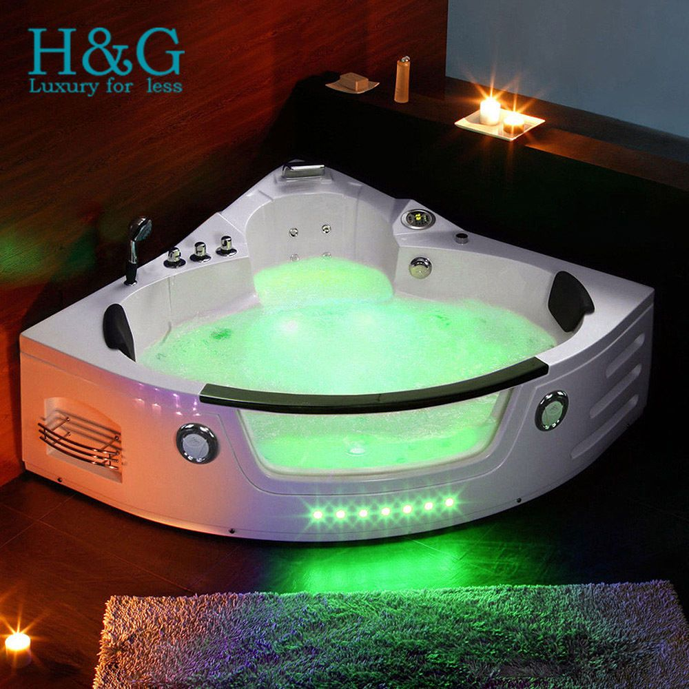 1350mm Corner 2 person Whirlpool Shower Spa Jacuzzi Massage Double ...