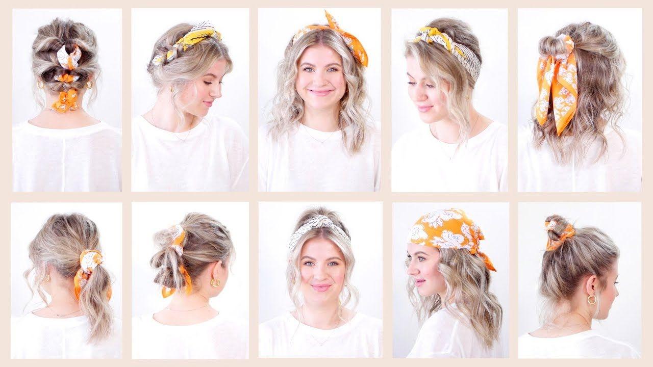 10 Easy Summer Hairstyles With Bandana Headband Milabu Youtube Easy Summer Hairstyles Summer Hairstyles Headband Hairstyles