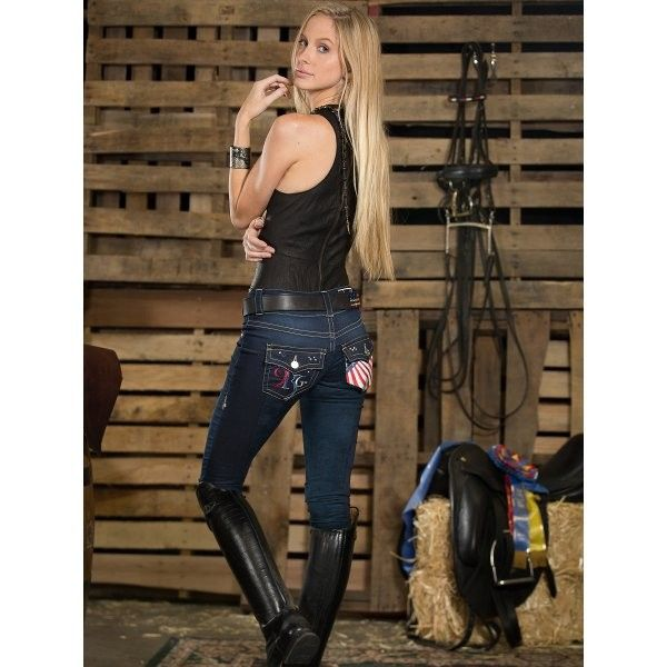 2kGrey Olympic Full Seat Breeches - Originally custom-created for each of the women equestrian athletes who competed in the 2012 Olympics in London, the Olympic riding pant celebrates our patriotic spirit. Traditional five-pocket jean styling in a stretchy indigo denim fabric gives you the perfect, slimming fit along with real comfort and performance. $249.99