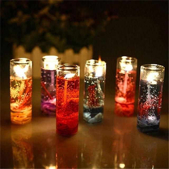 New Christmas Flickering Glitter Water Candle Colour Changing LED 24cm Xmas