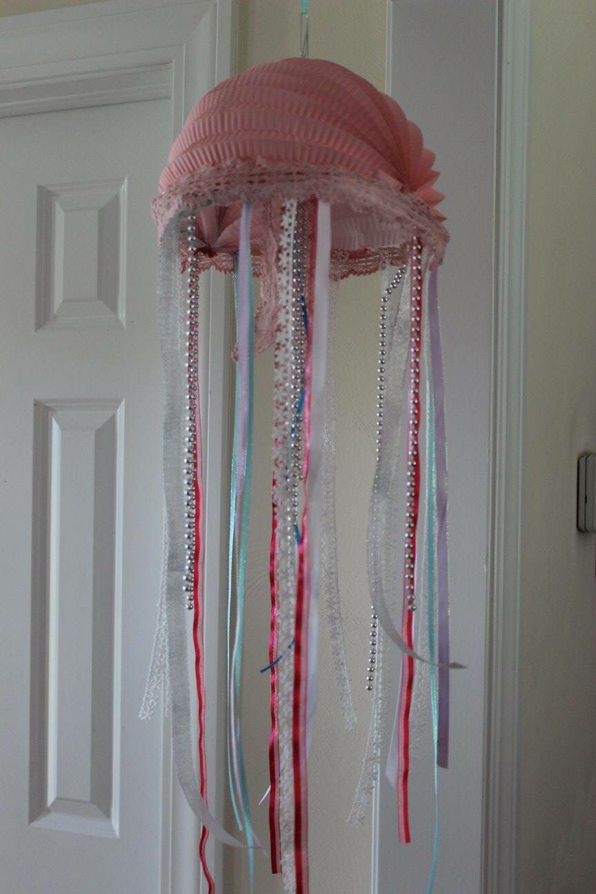 Handmade Jelly Fish for a Mermaid Birthday Party