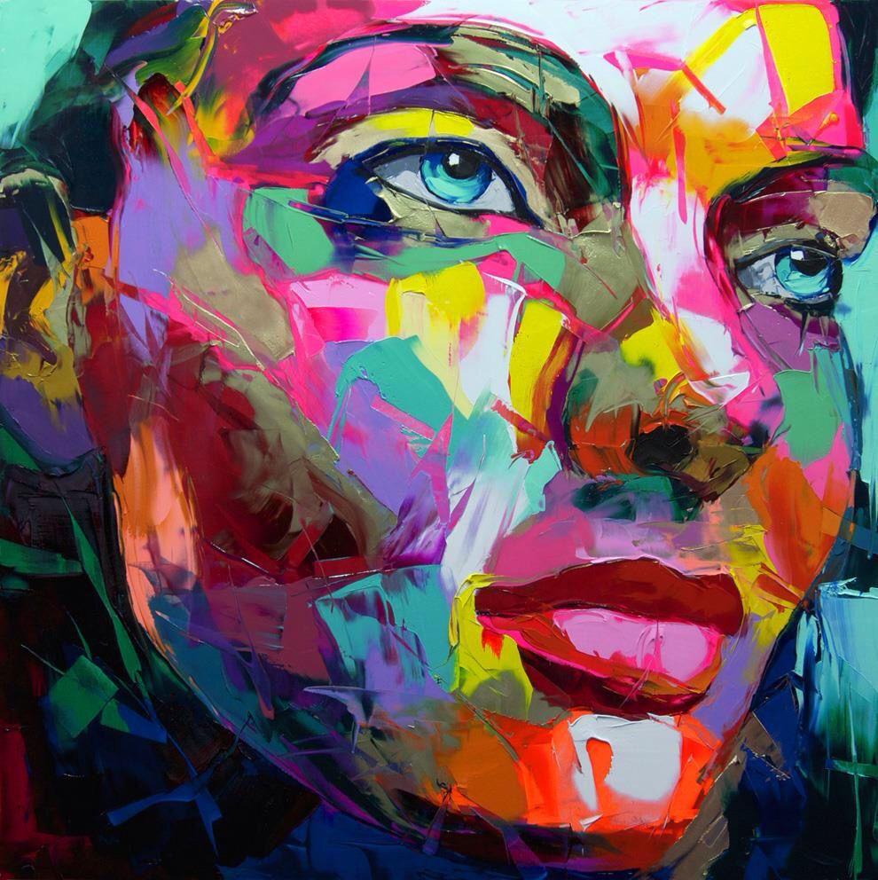 francois nielly gemalde leinwand original abstrakte bilder acrylbilder blumen modern bild rot abstrakt