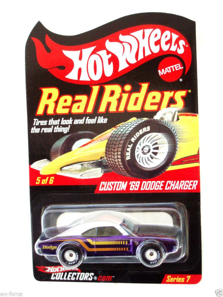 Hot Wheels  RED LINE CLUB EXCL.CUSTOM '69 DODGE CHARGER  REAL RIDERS SERIES 7