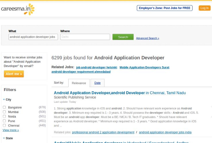 6000 Plus Android Application Developer Jobs Are Waiting For Right Candidates Apply Now Application Android Job Development