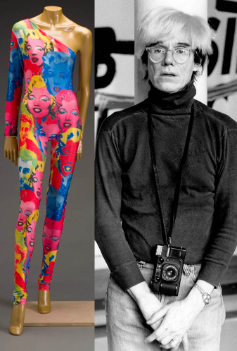4e97e1af7021 Gianni Versace s Spring 1991 collection featured outfits printed with Andy  Warhol s brightly coloured