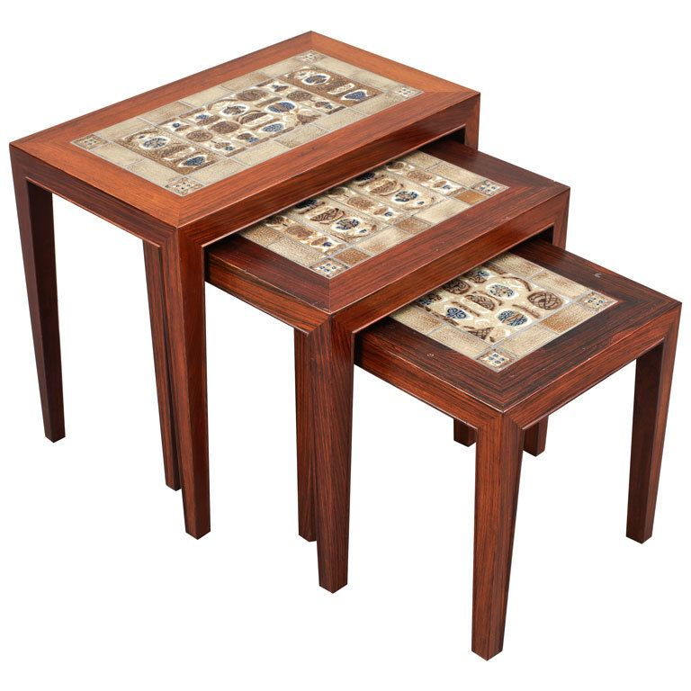 Set of 3 Nesting Tables by Severin Hansen Jr. | From a unique collection of  sc 1 st  Pinterest & Set of Three Nesting Tables by Severin Hansen Jr | Tables Nest and ...