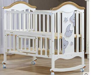 Wiege Krippe Holz Europa Typ Multifunktionale Weiss Baby Bett Baby
