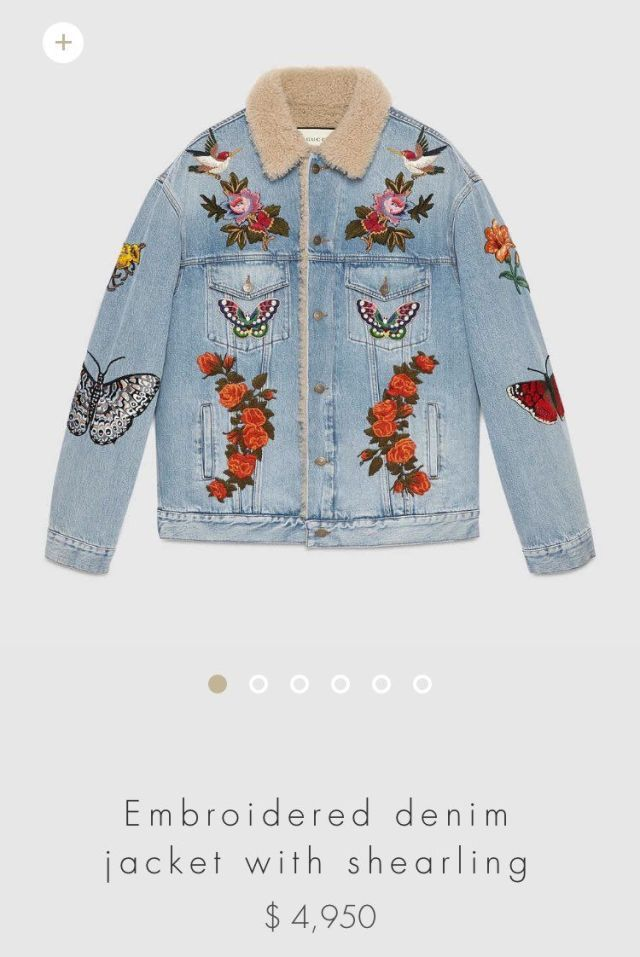 f51ebd9438fc Did Harry Styles and his tattoos inspire Gucci s latest designs  Did Harry  Styles and his tattoos inspire Gucci s latest designs  Embroidered Denim  Jacket ...