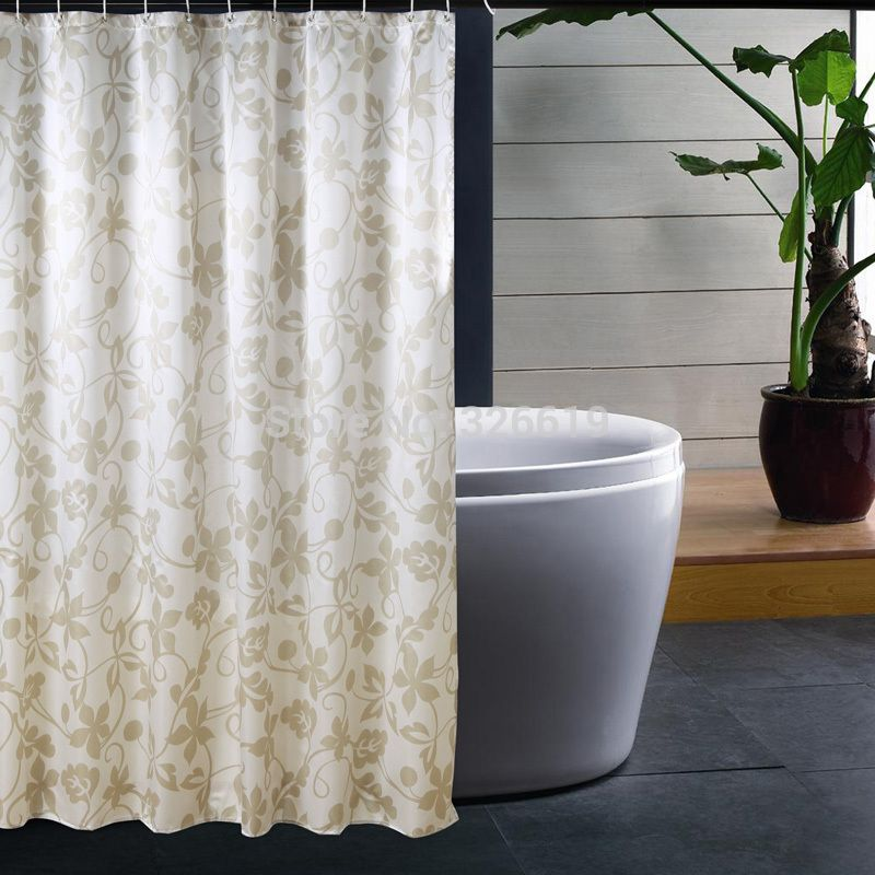 Free Shipping Thickening New Arrival Coating Waterproof Ivy Terylene Shower Curtain