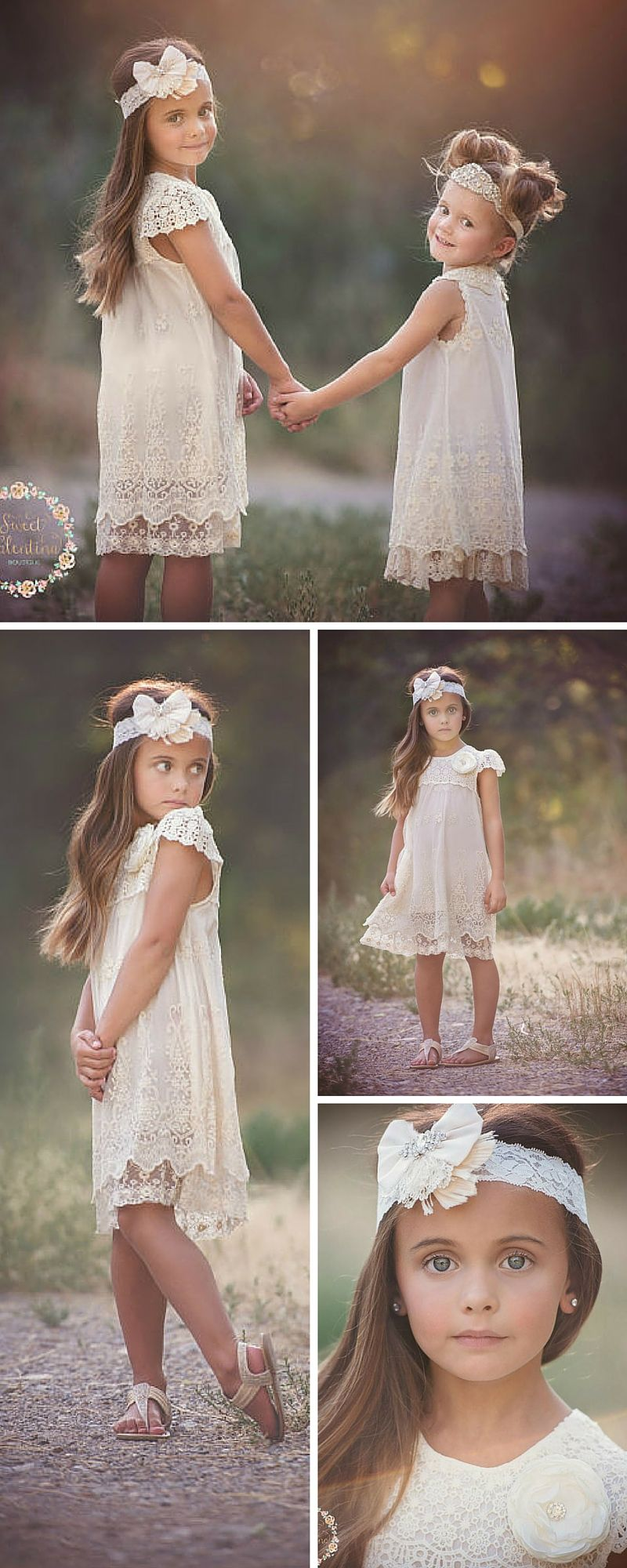 Beautiful vintage inspired dress for cute flower girls in