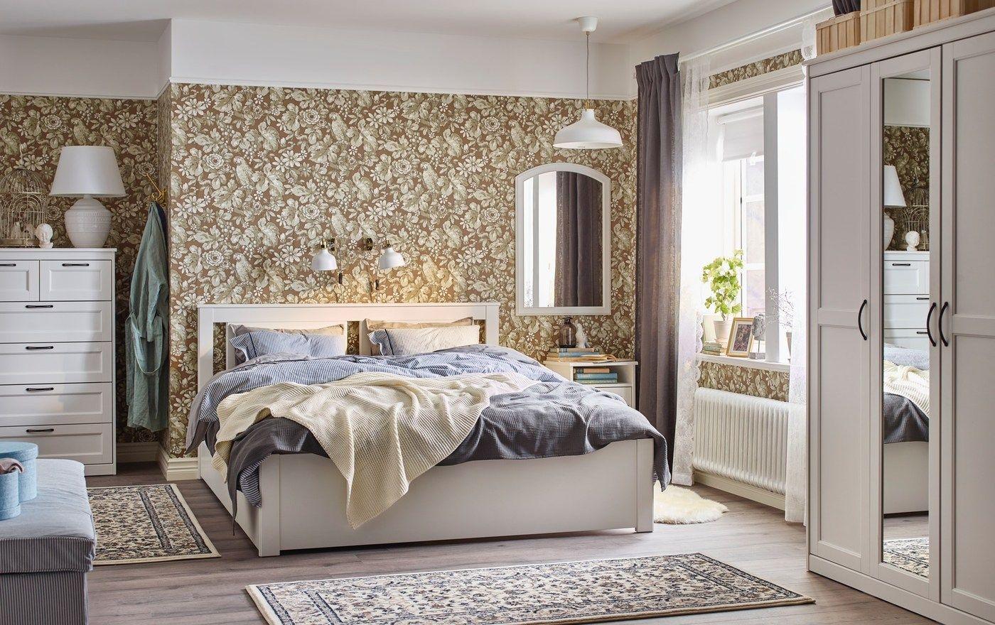 SONGESAND sets Ikea bed frames, Bed frame, White bedroom set