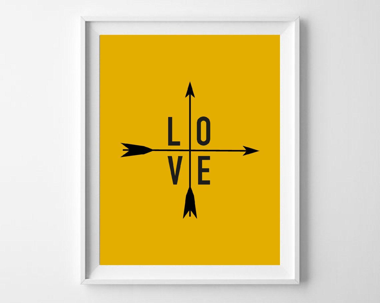 Printable Love Art Print, Instant Download Typographic Wall Decor ...