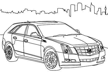cadillac cts sport coloring page cadillac car coloring With white cadillac cts6