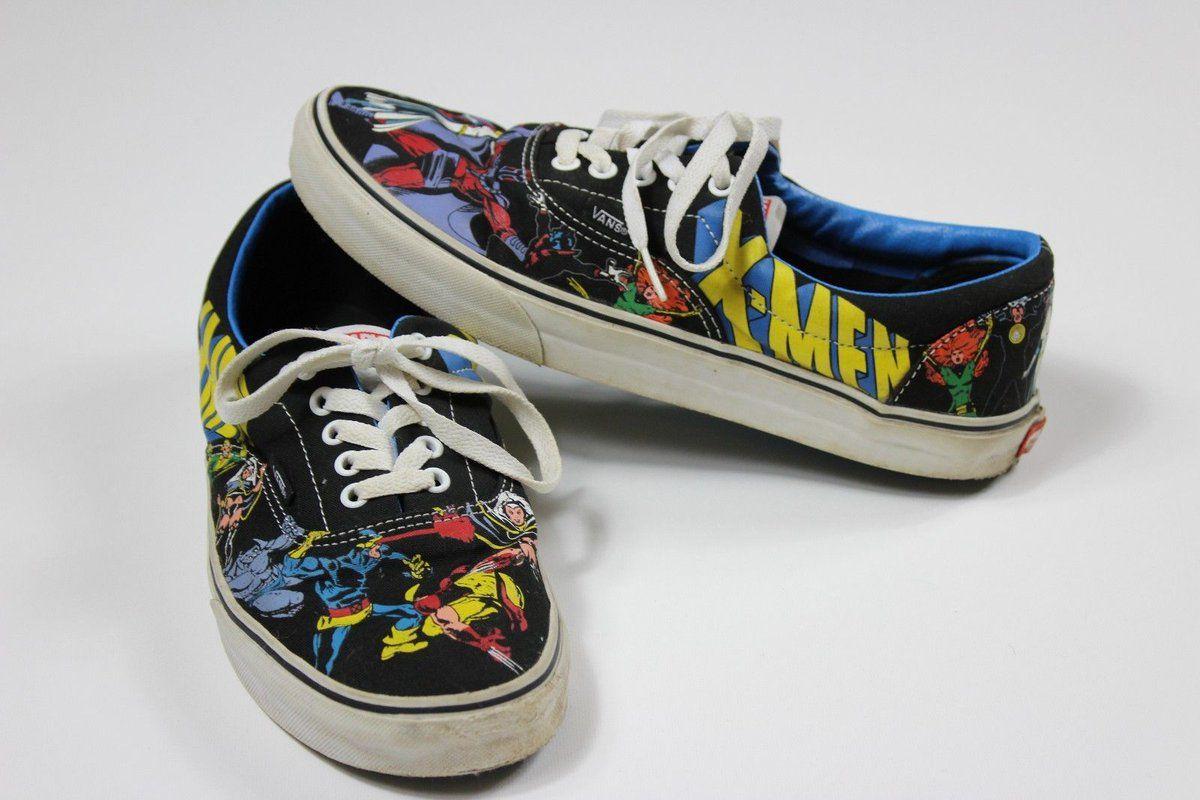 0c4805ba1085fe  Popular - Vans X-MEN Marvel Comics Era Lo Skate Shoe Sneaker Wolverine M