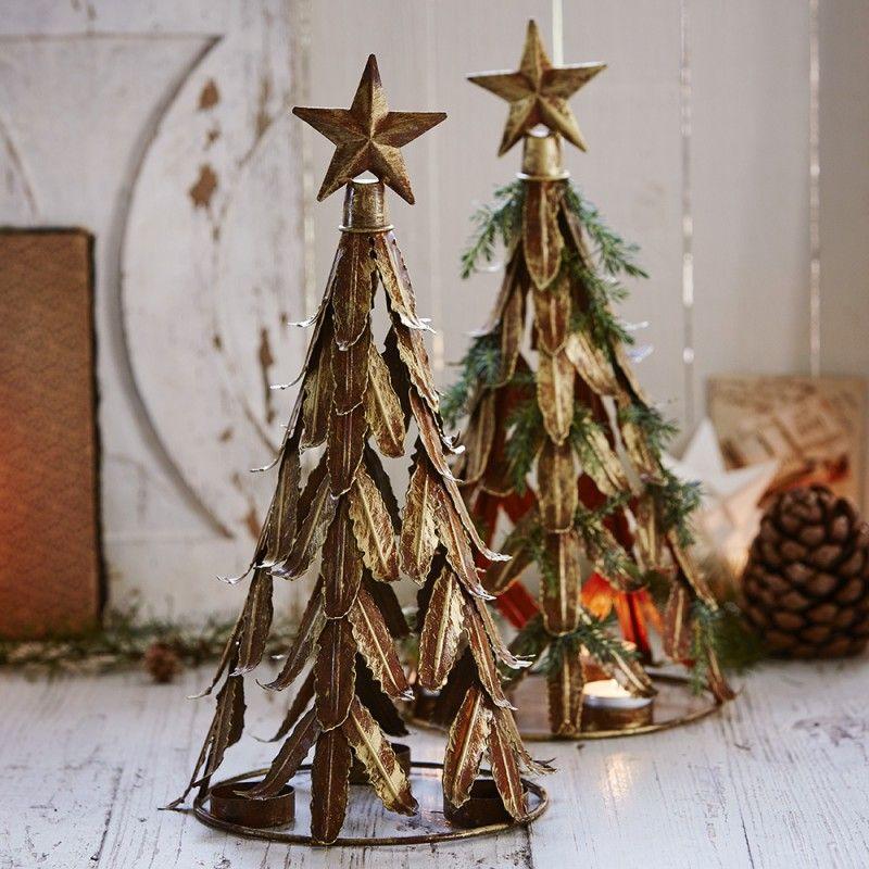 Juletræ til fyrfadslys, guld