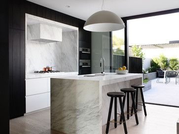 Timber And White Kitchen Island Home Design Decorating And Renovation Ideas On Houzz Australia Kitchen Interior White Kitchen Design Contemporary Kitchen