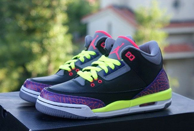Preview: Air Jordan 3 Retro GS | Purple, Volt & Pink