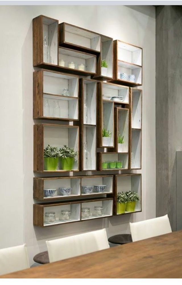Wunderbar In A Minimal And Raw Style, These Geometric Shelves Fit Together Like A  Game Of Tetris. Made From Recycled Teck You Can Multiply, Stack, Group  Together, ...