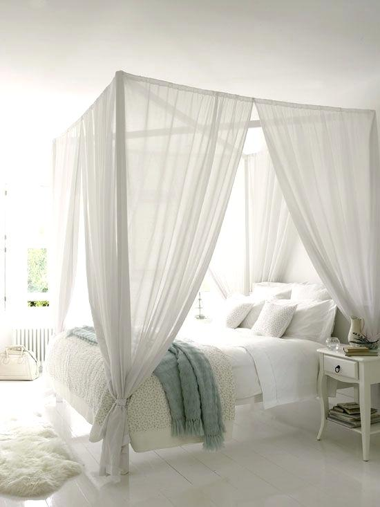 white bed canopy white rooms are always chic i love this