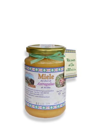 Miele vergine integrale dei fiori di Astragalus
