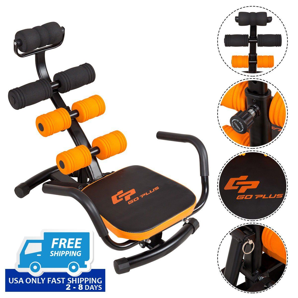 Core Fitness Abdominal Trainer Crunch Exercise Bench Machine Ab Trainer Workout Machines Crunches Workout
