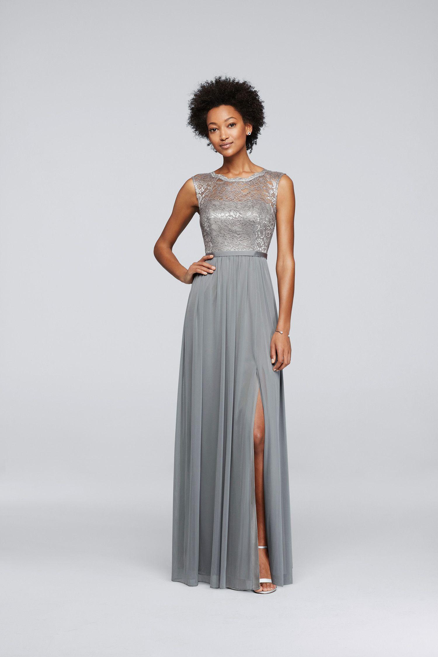 11++ Davids bridal silver dress info