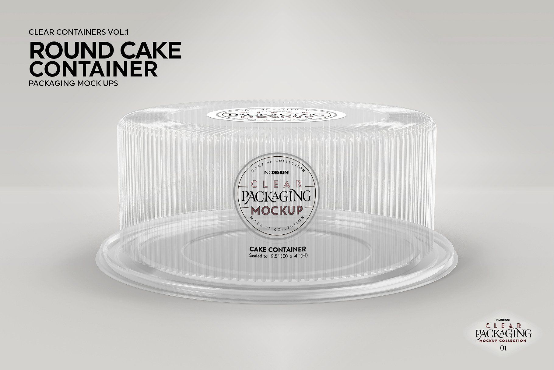 Cake Container Packaging Mockup Packaging Mockup Clear Container Packaging