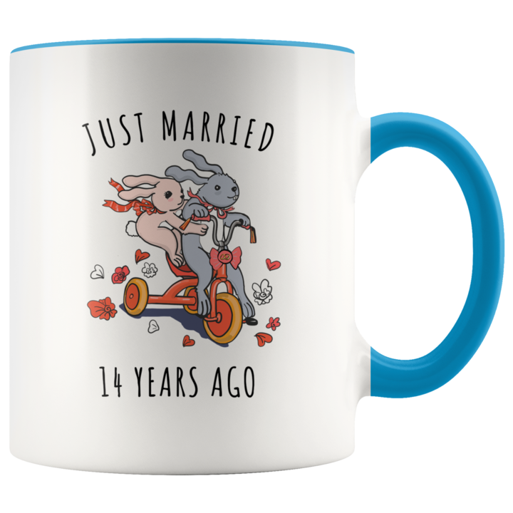 Just Married 14 Years Ago 14th Wedding Anniversary Gift