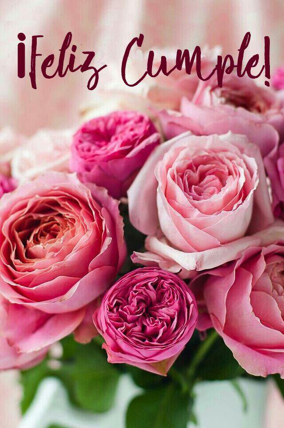 Feliz cumpleanos bendiciones con rosas