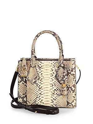 e5474134c711 Michael Kors Casey Small Python Satchel | B A G | Fall handbags ...