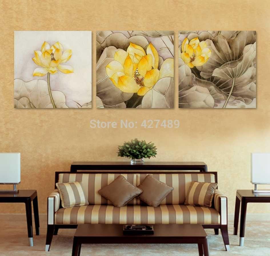 3 Panel modern wall art home decoration frameless oil painting ...