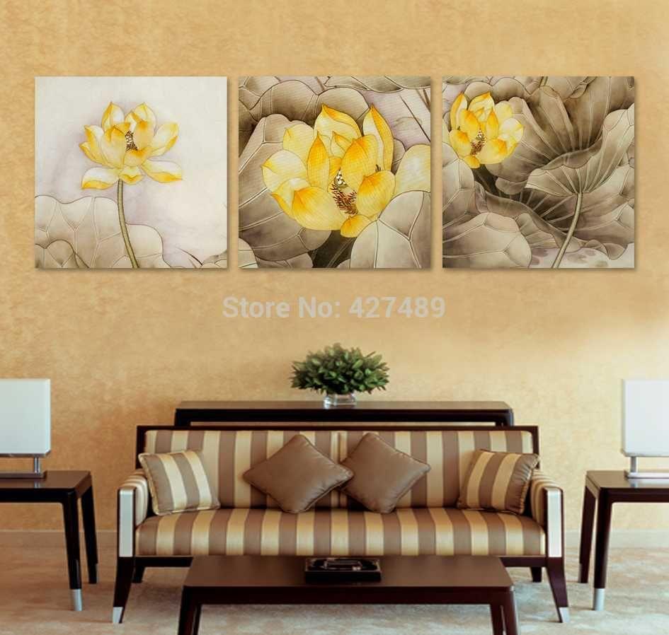 3 Panel modern wall art home decoration frameless oil painting ...