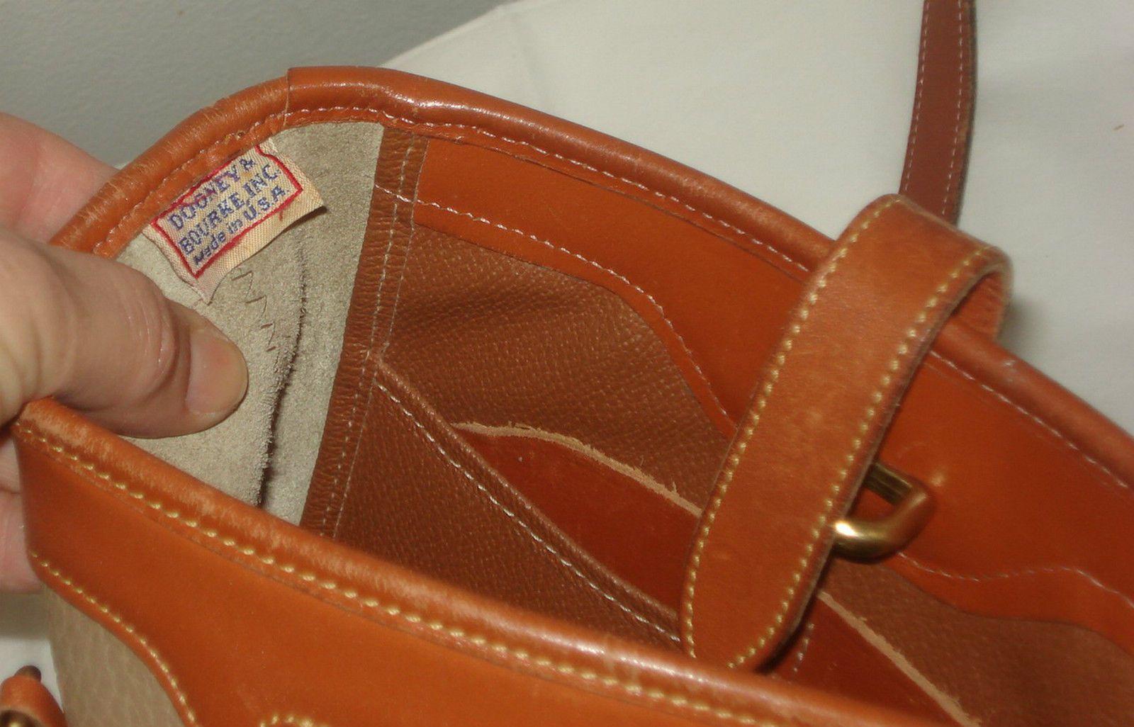 DOONEY & BOURKE Rare! xbody TAN Prince Leather Saddle
