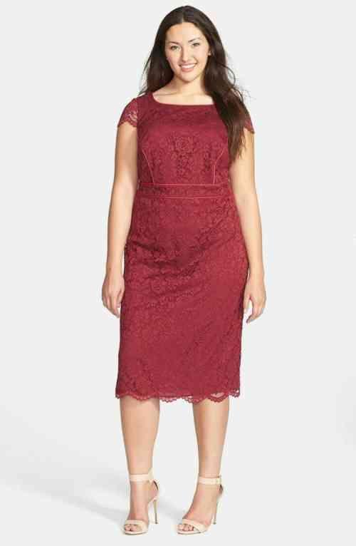 robe moderne en rouge pour femme ronde ma grande taille femmes rondes robe et looks femme