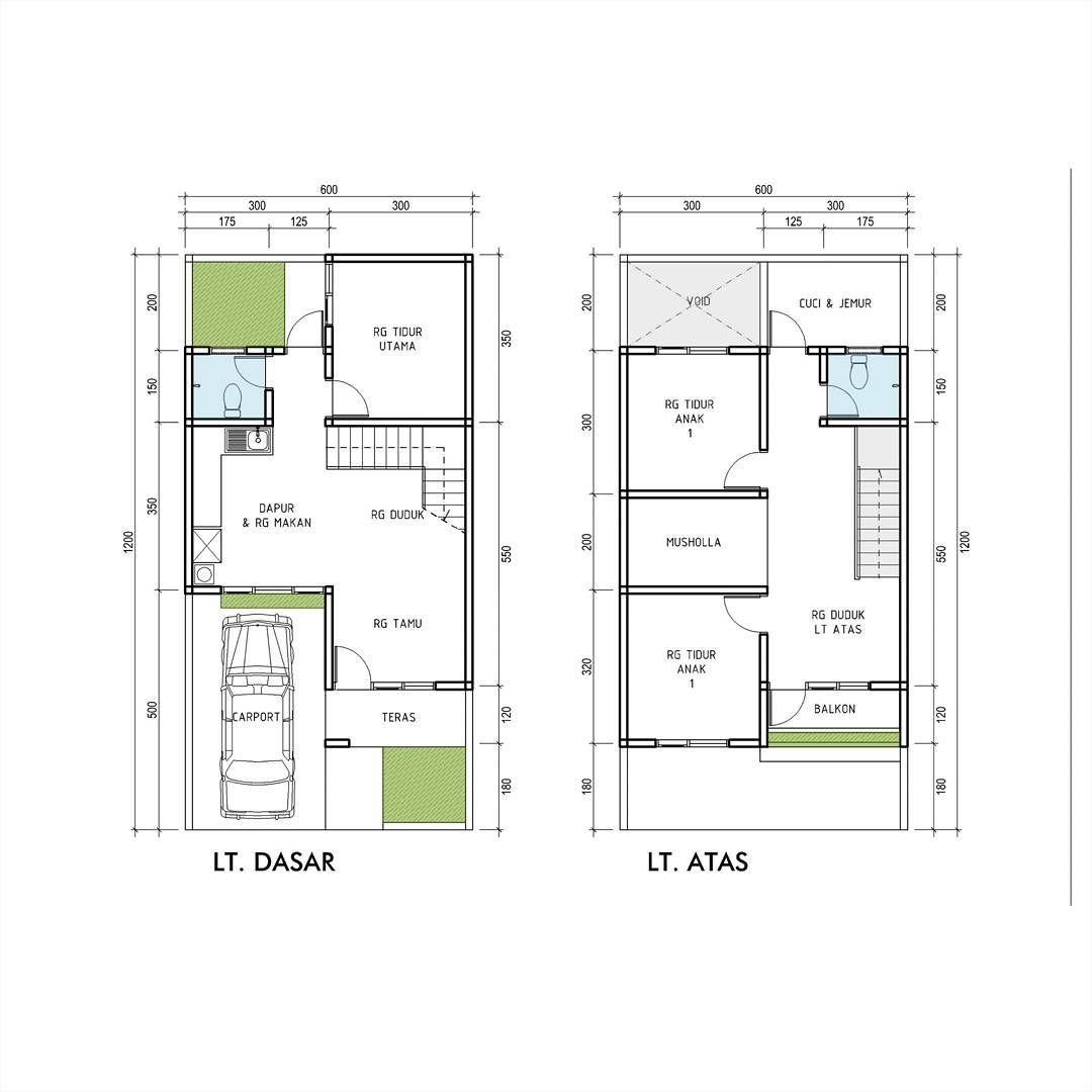 Contoh Denah Rumah 2 Lantai Site Plan Denah Rumah Tata Letak Rumah Desain Rumah