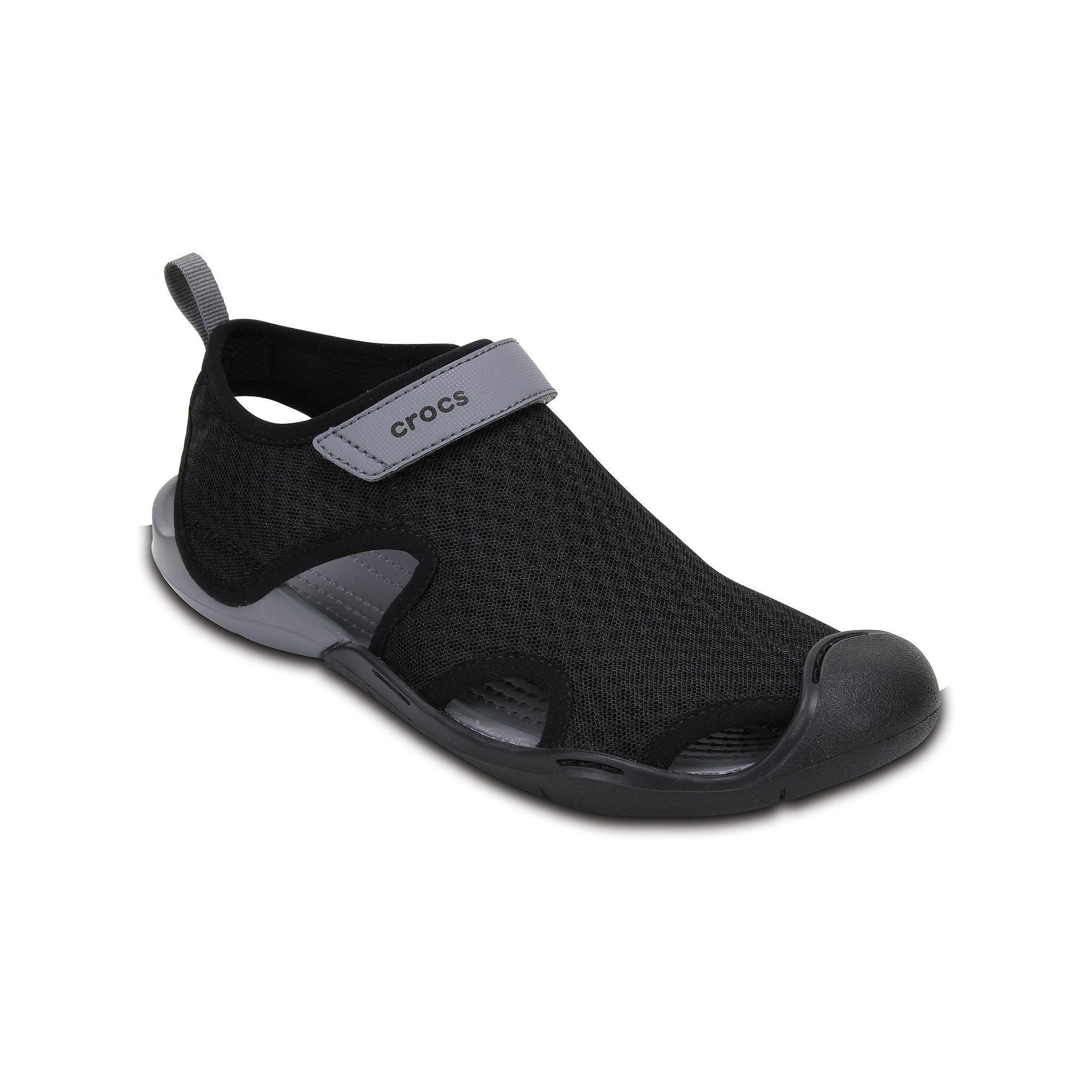 Black · Crocs Swiftwater Women's Mesh Sandals ...