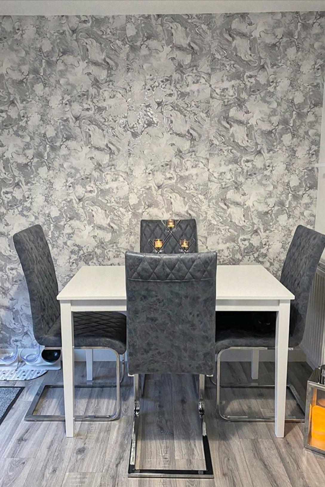 I Love Wallpaper Liquid Marble Wallpaper Silver In 2020 D
