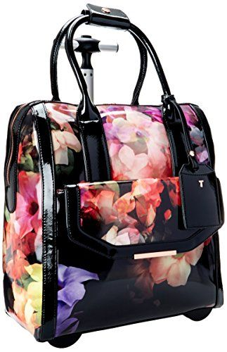 Ted Baker Connie Cascading Floral Travel Bag, Black, One Size Ted ...
