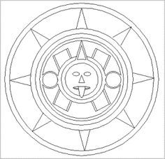Aztec sun stones google search projects to try for Aztec sun coloring page