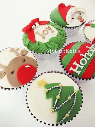 Gorgeous Christmas cupcakes