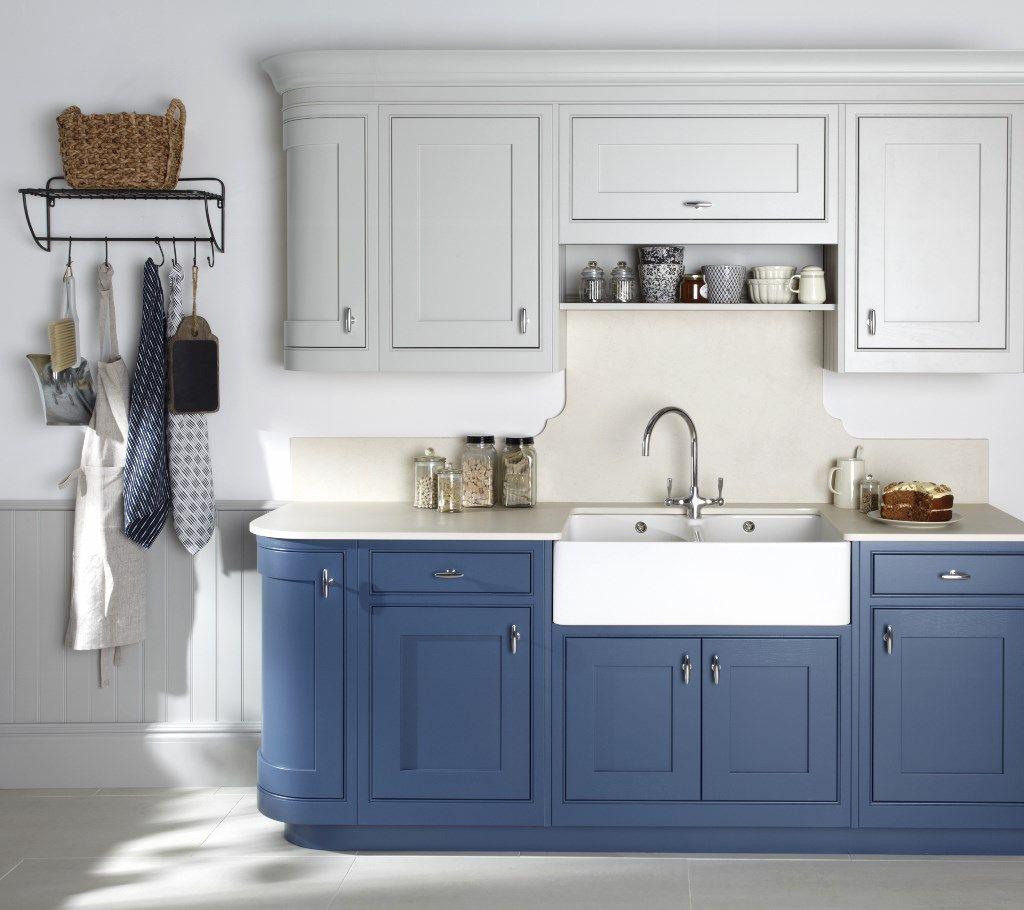 Burbidge\u0027s Langton Kitchen painted in Old Navy and Soft Grey - Curved Doors Doors & Burbidge\u0027s Langton Kitchen painted in Old Navy and Soft Grey ... Pezcame.Com