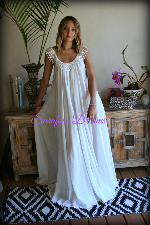 7baad7ef09080 Cotton Nightgown Off White Cotton Sleepwear Honeymoon Cotton Lingerie  Bridal Lingerie Venice Lace N